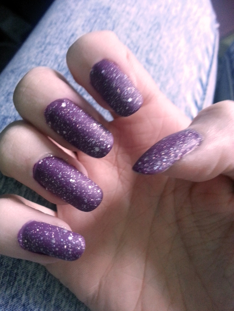 Purple Galaxy Nails